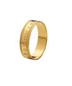 Anel O Senhor é meu Pastor em ouro amarelo 18k Emporium Aurum