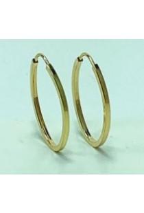 Brinco de argola oval em ouro 18k