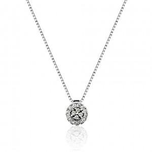 Gargantilha em ouro branco 18k com diamantes Brüner b48f255765